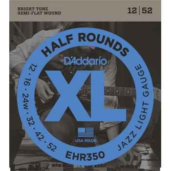 D´addario EHR350 Half Rounds Jazz Light Cuerdas para Guitarra Eléctrica